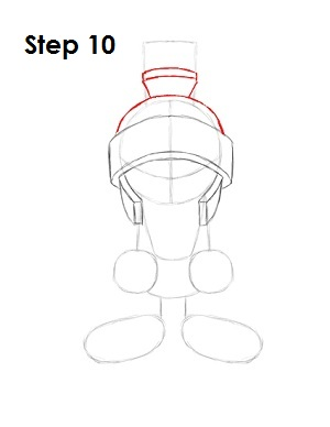 Draw Marvin the Martian Step 10