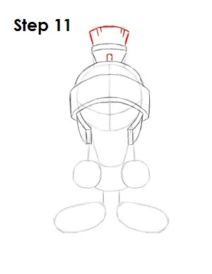 Draw Marvin the Martian Step 11