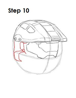 How to Draw Master Chief Step 10
