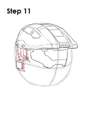 How to Draw Master Chief Step 11