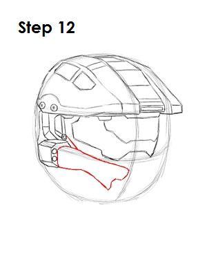 How to Draw Master Chief Step 12