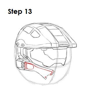 How to Draw Master Chief Step 13