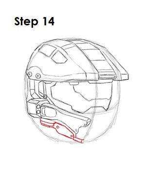 How to Draw Master Chief Step 14