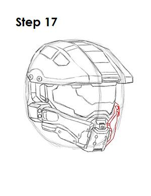 How to Draw Master Chief Step 17