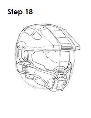 How to Draw Master Chief Step 18