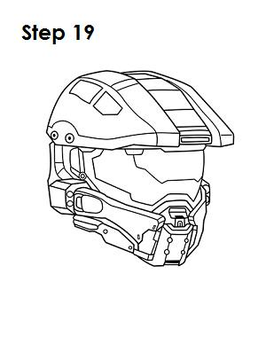 How to Draw Master Chief Step 19