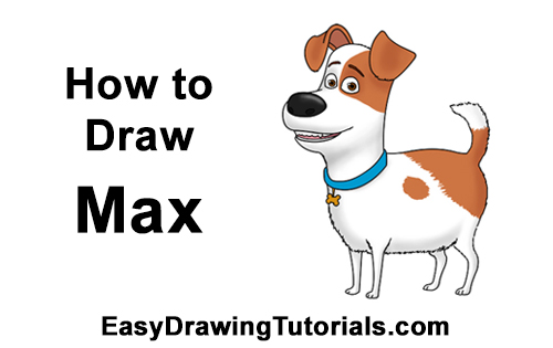 How to Draw Max Secret Life of Pets