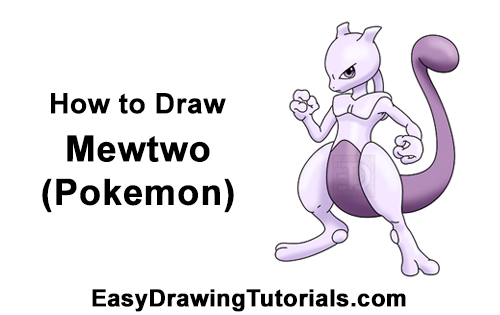 How to Draw Mewtwo Pokemon