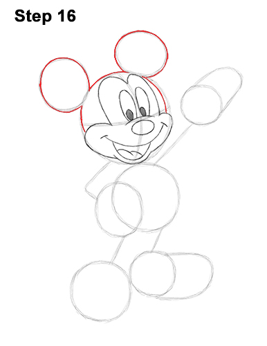 How to Draw Classic Mickey Mouse Full Body Disney 16