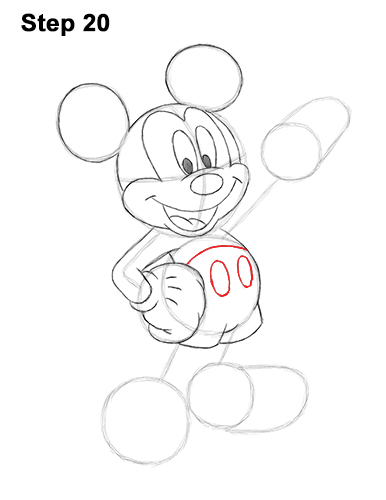 How to Draw Classic Mickey Mouse Full Body Disney 20