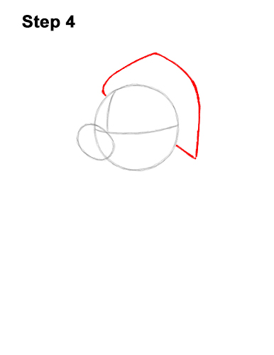 How to Draw Mickey Mouse  Christmas Santa Claus 4