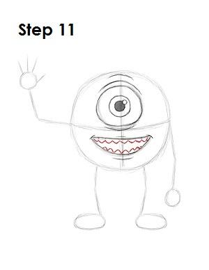 How to Draw Mike Wazowski Step 11