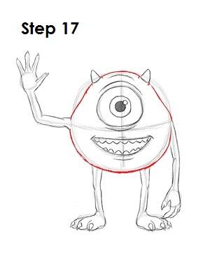 How to Draw Mike Wazowski Step 17