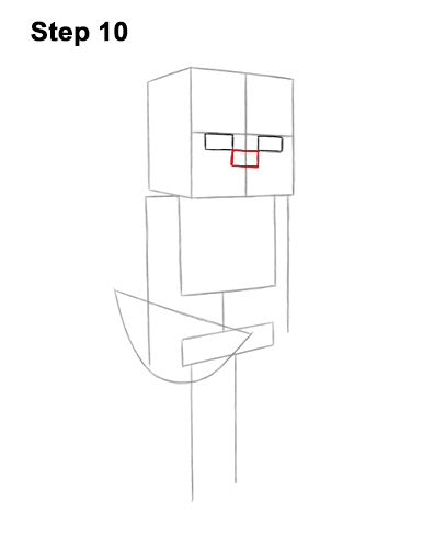 How to Draw Minecraft Skeleton Bow 10