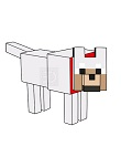 How to Draw Wolf Dog Minecraft
