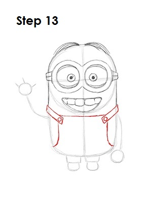 How to Draw a Minion Step 13