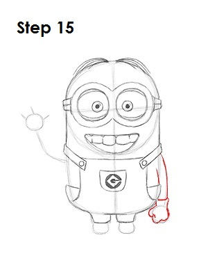 How to Draw a Minion Step 15