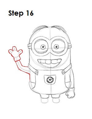 How to Draw a Minion Step 16