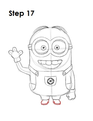 How to Draw a Minion Step 17