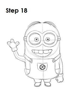 How to Draw a Minion Step 18