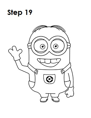 How to Draw a Minion Step 19