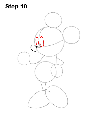 How to Draw Classic Minnie Mouse Full Body Disney 10