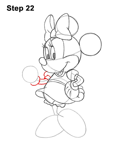 How to Draw Classic Minnie Mouse Full Body Disney 22