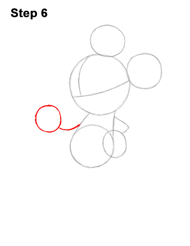 How to Draw Classic Minnie Mouse Full Body Disney 6