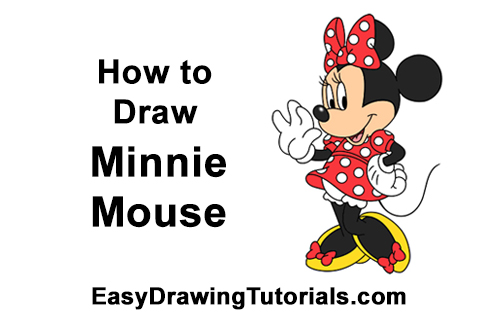 How to Draw Classic Minnie Mouse Full Body Disney