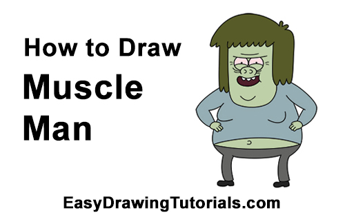 How to Draw Muscle Man Regular Show
