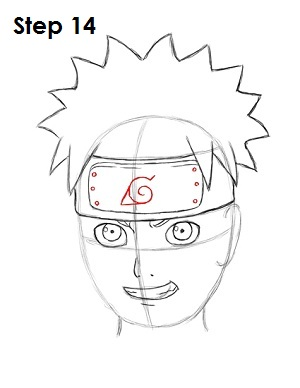 How to Draw Naruto Step 14
