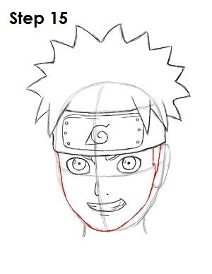 How to Draw Naruto Step 15