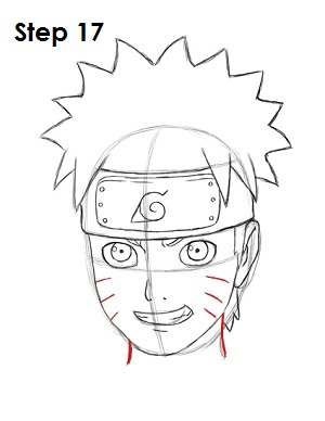 How to Draw Naruto Step 17