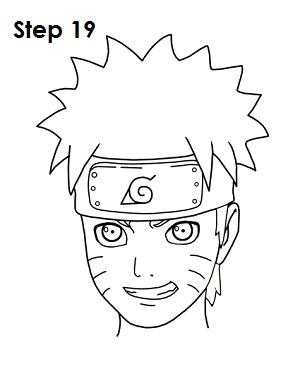 How to Draw Naruto Step 19
