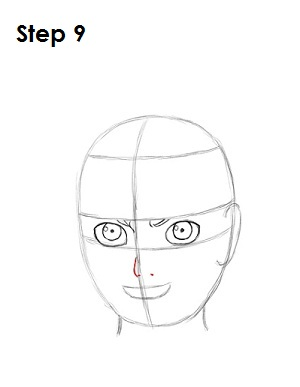 How to Draw Naruto Step 9