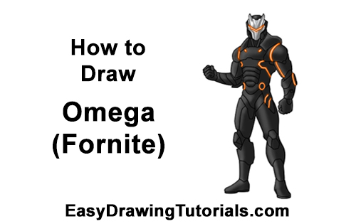 How to Draw Omega Full Body Max Level Skin Fortnite Battle Royale