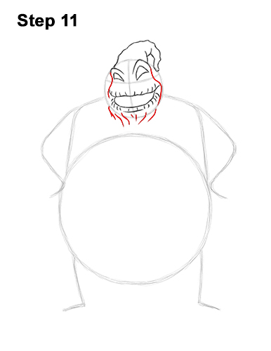 How to Draw Halloween Oogie Boogie Nightmare Before Christmas 11