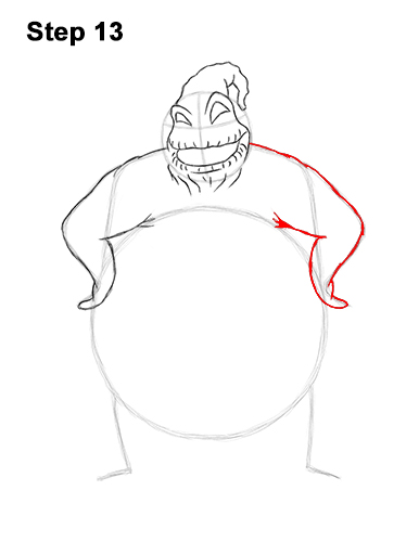 How to Draw Halloween Oogie Boogie Nightmare Before Christmas 13