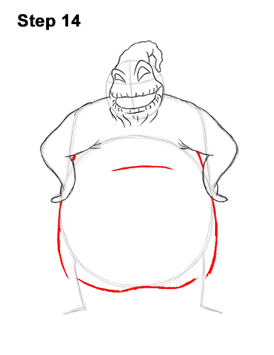 How to Draw Halloween Oogie Boogie Nightmare Before Christmas 14