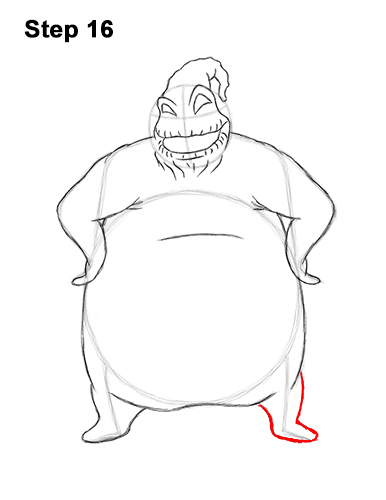 How to Draw Halloween Oogie Boogie Nightmare Before Christmas 16