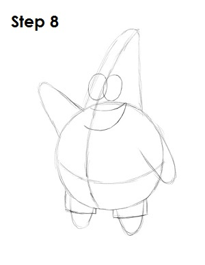 Draw Patrick Star Step 8