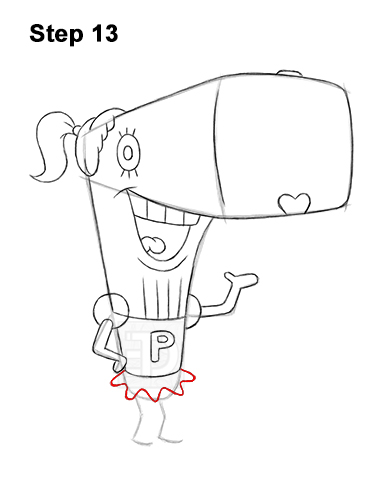 How to Draw Pearl Krabs Spongebob Squarepants 13