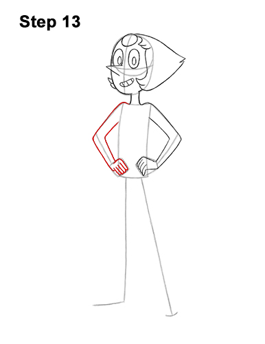 How to Draw Pearl Steven Universe Full Body 13