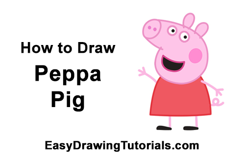 How to Draw Peppa Pig Cartoon