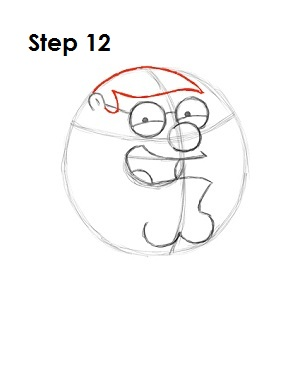 How to Draw Peter Griffin Step 12