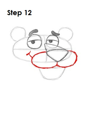 Draw Pink Panther Step 12