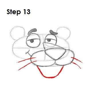 Draw Pink Panther Step 13