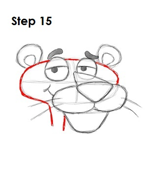 Draw Pink Panther Step 15