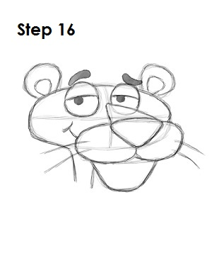 Draw Pink Panther Step 16