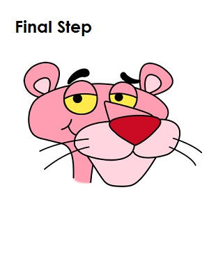 Draw Pink Panther Final Step